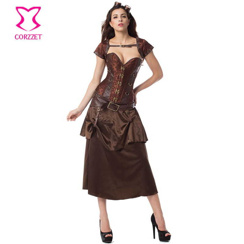e4127fffa32 Plus Size Corset 6XL Bustier Sexy Jacket Belt Outfits Gothic Clothes  Korsett For Women Corsets and Bustiers Steampunk Clothing