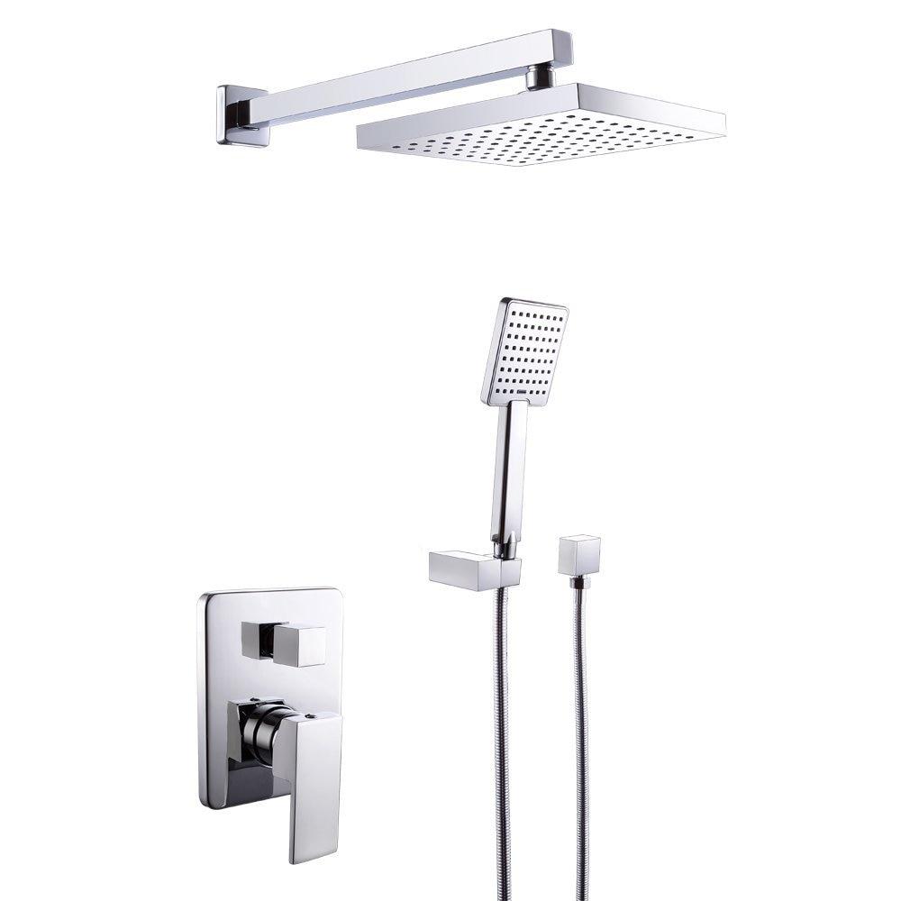Wall mounted Bathroom Single Handle Shower Faucet Trim Valve Body ...