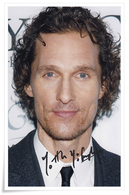Matthew McConaughey autographed signed photo 4*6 inches authentic freeshipping  01.2017 signed cnblue jung yong hwa autographed photo do disturb 4 6 inches freeshipping 072017 01