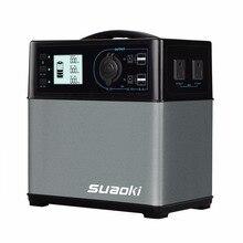 Suaoki 400Whパワーバンクソーラー電源AC&DCインバーターシガレットライターソケット電子デバイスとジャンプスターターカー(中国)