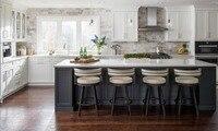 2018 горячая Распродажа индивидуальная Массивная древесина кухонные шкафы современная кухонная мебель SKC80902