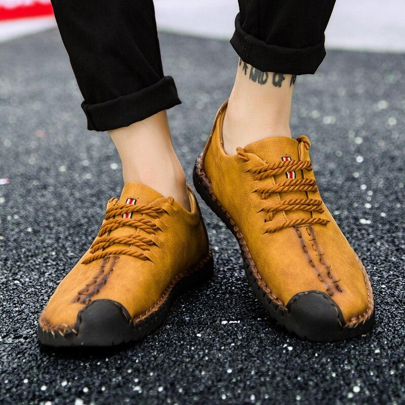 Appartements noir Hommes up up En kaki Qualité up Split Hh Offre lace jaune Mocassins Casual Spéciale Cuir 285 Lace Chaussures lace 6xaqwr6U0