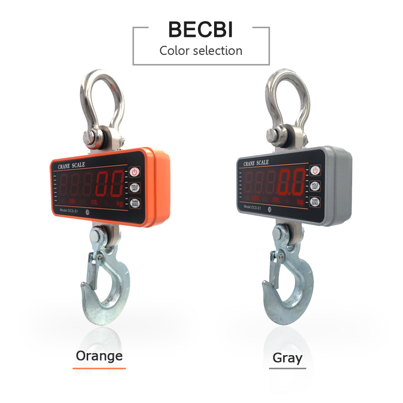 Image 2 - BECBI Precision Hanging Scale 1ton LED Display 1000Kg Crane Scale Digital Electronic Weighing Hook Bascula Digital Hassas Terazi-in Weighing Scales from Tools