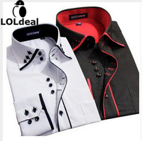 Men S Spring And Autumn Long Sleeved Shirt Business Casual Shirt Slim Young Men S Non