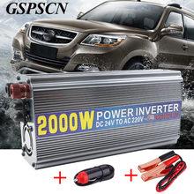 Автомобиль Мощность инвертор 12 В 24 В 220 В Мощность Инвертор адаптер конвертер USB Питание переключатель на плате Зарядное устройство подходят ниже 800 Вт