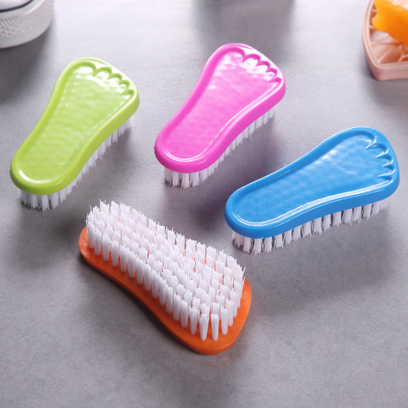 050 Candy plastic footboard brush household cleaning brush fashion shoe brush 12 8 5 7 3cm in Shoe Brushes from Home Garden