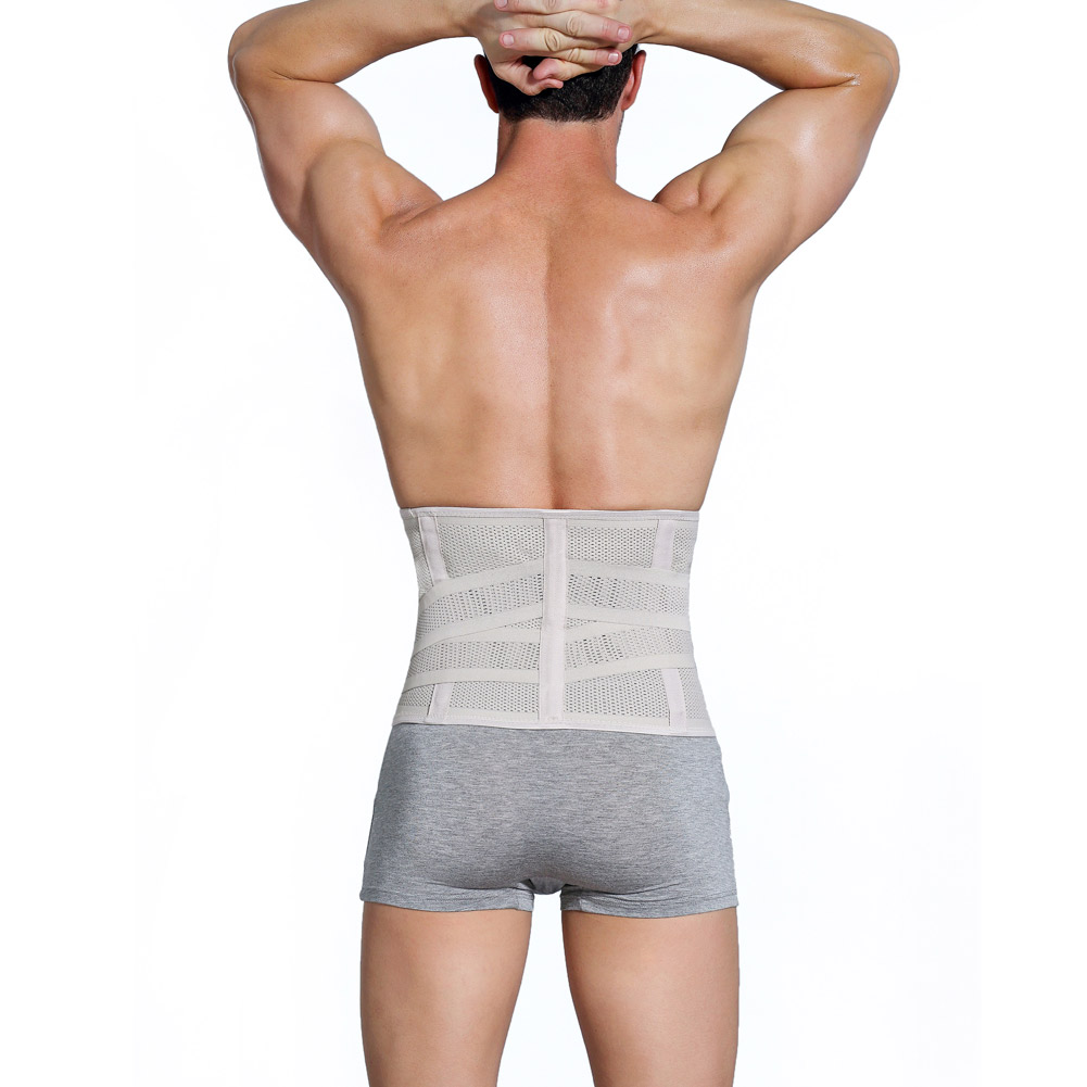 Summer Men Abdomen Tummy Shaperwear Ultrathin Corset Waist Trainer Slimming Belt Belly Body Shaper Cincher Slim Girdle S