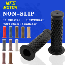 Pair 7/8 Inch 22mm Motorcycle Rubber Soft Antiskid Hand Grips Cafe Racer Retro Gel Handlebars Handle Bars Dirt Bike Accessories