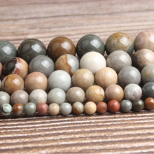 Lan Li fashion natural Jewelry American picture stone loose beads 4/6/8/10/12mm DIY woman bracelet necklace ear stud accessories