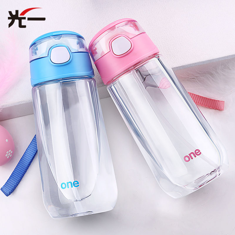 500ML Plastic Straw Cup Children's Feeding Cup Portable Kid water bottle Learn Drinking Sippy Cup with Rope Milk Bottle BPA Free irit ir 3019