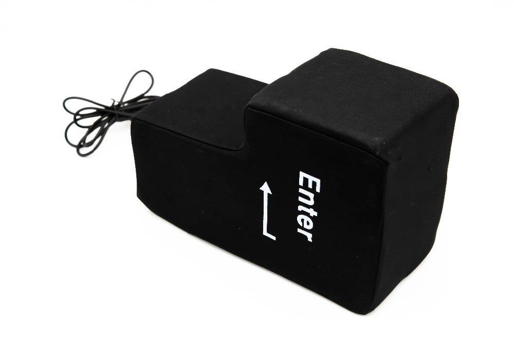 IPiggy USB Big Enter Key Anti Stress Relief Enter Key Stress Reliever Hand Rests Pillow Unique Office Desk Pillow
