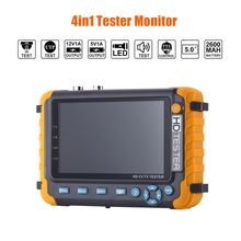 5 inch 4IN1 tester monitor Camera Tester 1080P IPC CCTV Monitor Video Audio POE Test Touch Screen 5MP TVI AHD CVI CVBS Screen new 4 3 inch 5mp 1080p camera tester ahd tvi cvi analog cvbs in 1 cctv tester monitor support utp ptz audio test cctv tester