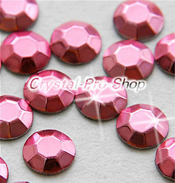 1440 pieces Light Pink 3mm 10ss ss10 Faceted Hotfix Rhinestuds Iron On Round Beads Aluminium Metal Art (u3m-Lt Pink-10 gr)