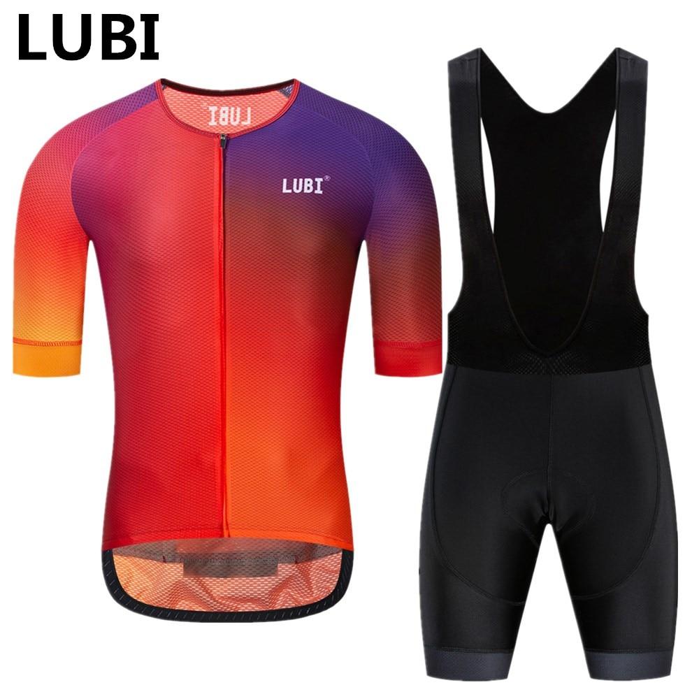 LUBI 2019 Pro Team Women Summer Cycling Jersey Bib Short Set Wear Gel Breathable Pad MTB
