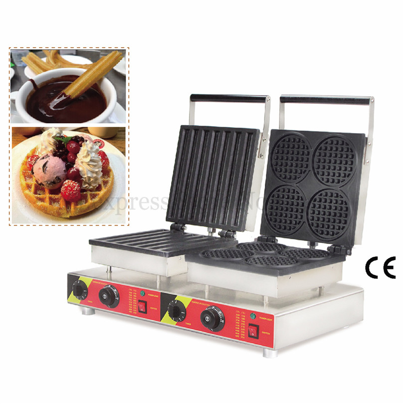 Double Pans Waffle Maker Machine Various Styles for Selection Electric Nonstick Cake Baker 220V 110V Popular Snack Brand NewDouble Pans Waffle Maker Machine Various Styles for Selection Electric Nonstick Cake Baker 220V 110V Popular Snack Brand New
