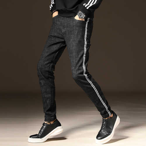 39638620 ... Odinokov Jeans Trousers Men Clothes 2019 New Black Elasticity Skinny  Jeans Business Casual Male Denim Slim