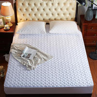 3pc Fleece fabric Fitted Sheet Mattress Cover white Bedding Linens Bed Sheets With Elastic Band 1.2m/1.35m/1.5m/1.8m/2.0m