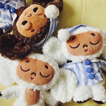 Lindo mono de peluche de juguete cheburashka muñeca suave Rusia Anime juguete bebé niños sueño afelpado muñeca