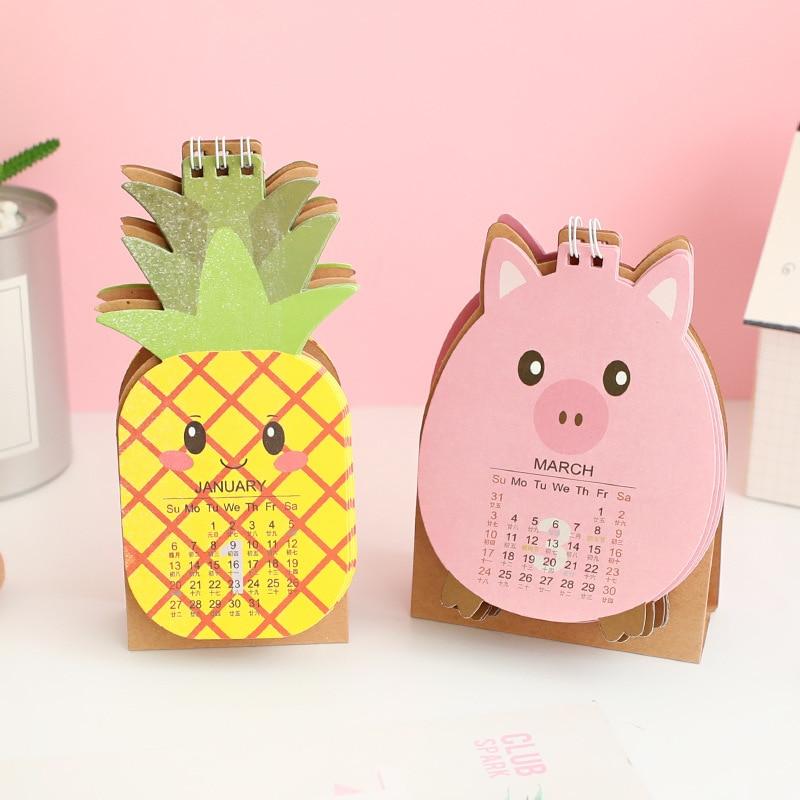 1 Pcs Obst Modellierung Schreibtisch Kalender 2019 Kalender Form Kleine Schreibtisch Kalender Kreative Frische Kalender Schreibtisch Set Schule Büro Liefern Elegantes Und Robustes Paket