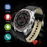 KW99 3G Smartwatch Phone Android 5 1 1 39 MTK6580 Quad Core 8GB ROM Heart Rate
