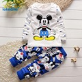 Baby Girls Clothes 2017 Hot Style Cartoon Mickey Children's Clothing Suits  Autumn Spring  Kids Clothes 2pcs T2707