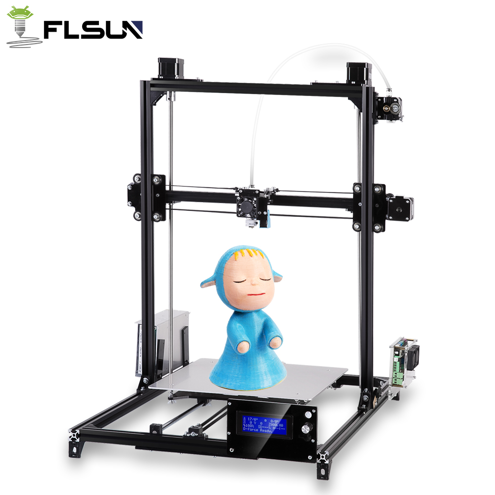 Flsun I3 3d Printer Large Printing Size 200x200x220mm Full Metal Auto Leveling DIY 3D Printer Kit Heated Bed Two Rolls Filament free dhl shipping 3d printer linear guide diy kit large printing speed 20 180mm s 3d metal printer support auto leveling