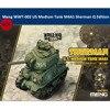 Meng WWT 002 US Orta Tankı M4A1 Sherman Q Baskı Sevimli Plastik Montaj model seti