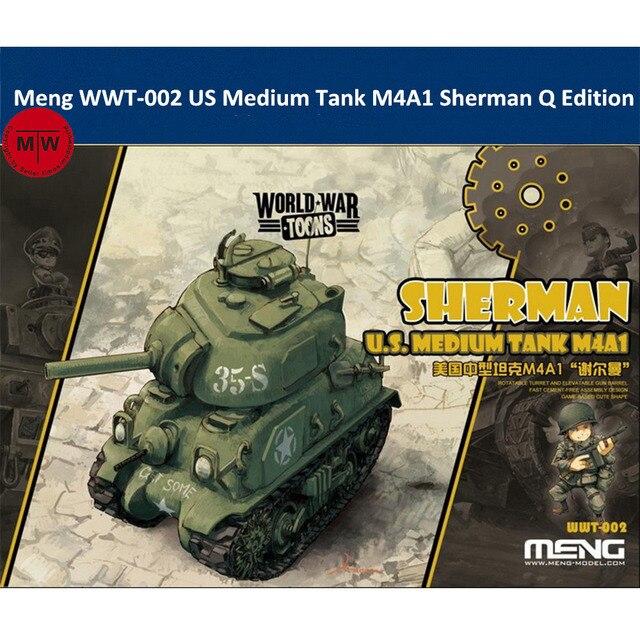 منغ WWT 002 لنا المتوسطة خزان M4A1 شيرمان Q طبعة لطيف البلاستيك الجمعية أطقم منمذجة