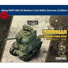 """מנג WWT 002 ארה""""ב בינוני טנק M4A1 שרמן ש מהדורה חמוד פלסטיק הרכבה ערכת מודל"""