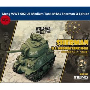 "Image 1 - מנג WWT 002 ארה""ב בינוני טנק M4A1 שרמן ש מהדורה חמוד פלסטיק הרכבה ערכת מודל"