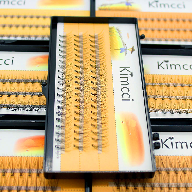 Kimcci 60knots / Case Natural False Eyelash Extension Makeup 10D Mink - Makeup - Foto 4