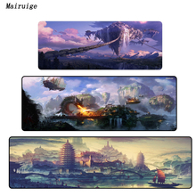Mairuige Fantasy landscape 900*400*3MM Speed Big Lock Edge Mouse Pad Mat Washable Gaming Personality Mousepad For LOL CSGO Gamer