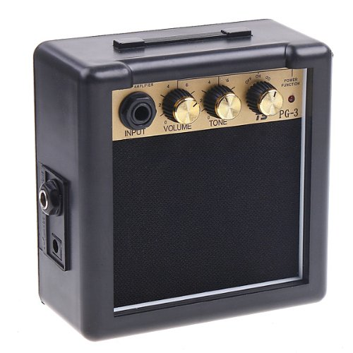 Wholesale 5X PG-3 3W Electric Guitar Amp Amplifier Speaker Volume Tone Control free shipping joyo ja 03 metal sound mini guitar amp pocket amplifier micro headphone speaker instruments guitarra 3w amp