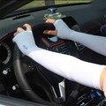 Spandex del brazo Al Por Mayor Corea Moda Let'sslim cuff UV protección solar del verano de seda del Hielo de conducción guantes de ciclismo para hombres mujeres
