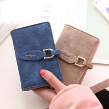 Lady Snap Fastener Short Coin Card Holder Sweet Vintage Matte Women Fashion Small Female Clutch ID& Card Holder Monedero