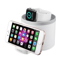 2 шт. настольная док-станция, зарядное устройство для Apple watch, держатель-подставка для смартфона, зарядка от аккумулятора, 3 порта, синхронизация, модный белый