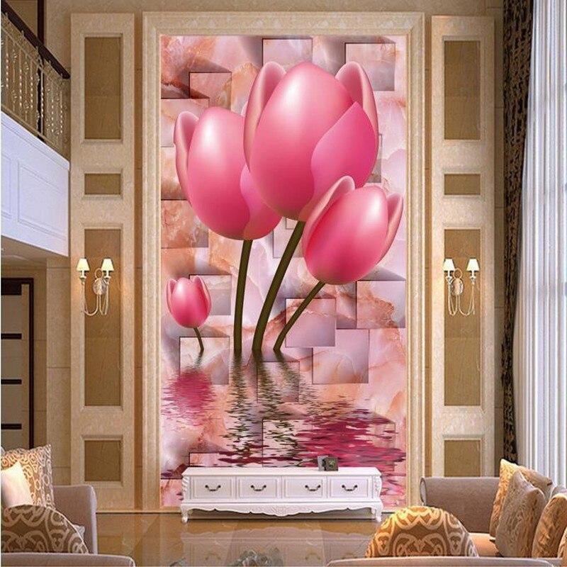 Beibehang Anpassen größe Hohe Schnell HD wandbild 3d wallpaper wand papier diamanten tulip de parede wallpaper für wände 3 d wandbild