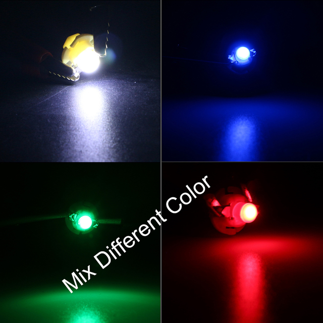 YM E-Bright 10 PCS COB 1 SMD 12V B8.4D B8.4 D Dashboard Light Bulb Warning Indicator Light Interior Car Instrument Lights