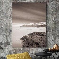 Abstrakte Nordic Bergsee Schnee Winter Natur Wand Bilder Für Wohnzimmer  Kunst Skandinavischen Leinwand Malerei Druckt Keine Rahmen