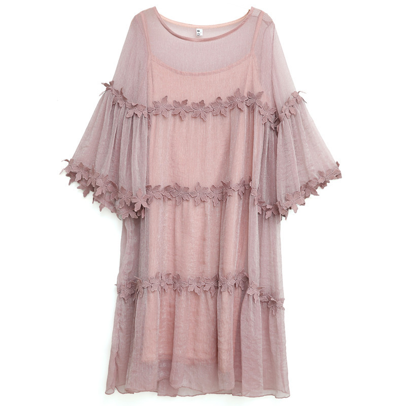 2PCS Maternity Dress Clothing 2018 Summer New Two-piece Elegant Pregnant Woman Dress Lace Dress Pregnancy Women Dresses