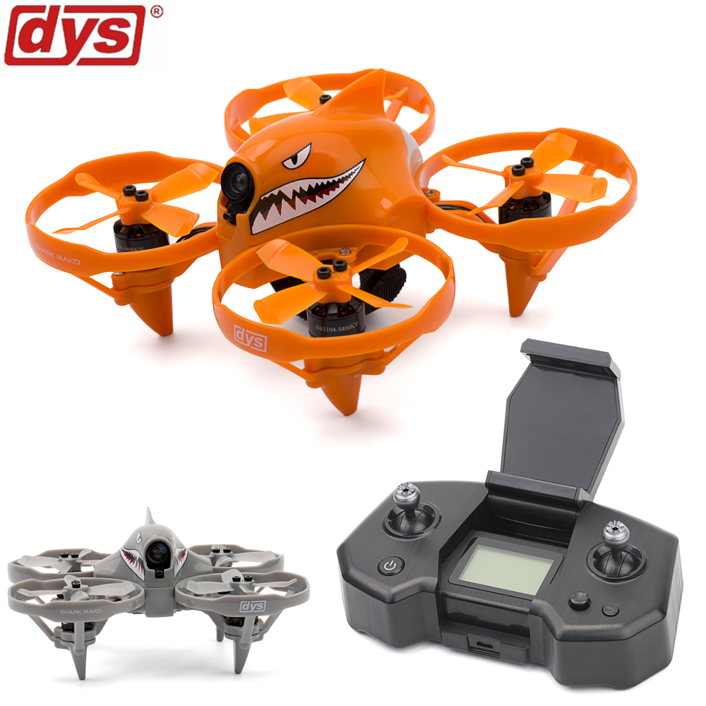 Mirco drone DYS Shark Mako Brushless FPV Racing Drone F4 BLheli_S Dshot 5.8G 25-200MW 40CH VTX indoor drone with remoted control