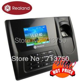 Realand Biometric Fingerprint Time Clock Recorder Attendance Employee Digital Electronic Standalone Punch Card ID Reader Machine