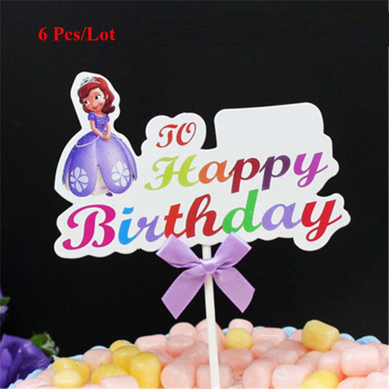 Koken En Tafelen Sofia The First Birthday Cake Topper Luxclusif Com