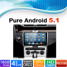 Pure Android 5.1.1 System Car DVD GPS Navigation System for Volkswagen VW Magotan Passat CC B6 B7 2012-2015