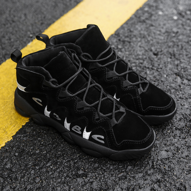 Top Quality Men Basketball Shoes Adult Comfortable Boots Cool Boys Sneakers Students Anti-Slip Outdoor Training Sports Shoes Hot glowing sneakers usb charging shoes lights up colorful led kids luminous sneakers glowing sneakers black led shoes for boys