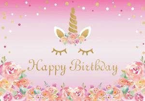 Image 4 - Unicorno Decorazioni della Festa di Compleanno Per Bambini Unicorn Partito Sfondo Arcobaleno Fotografia di Sfondo Del Bambino Della Decorazione Doccia HL39