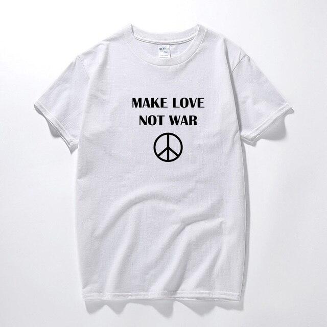 MAKE LOVE NOT WAR Adult Funny Humor Joke T Shirt T-shirt Tshirt For Men  Summer Tops Camisetas Blusas Camisa Masculina Blouse 07c31db5d46