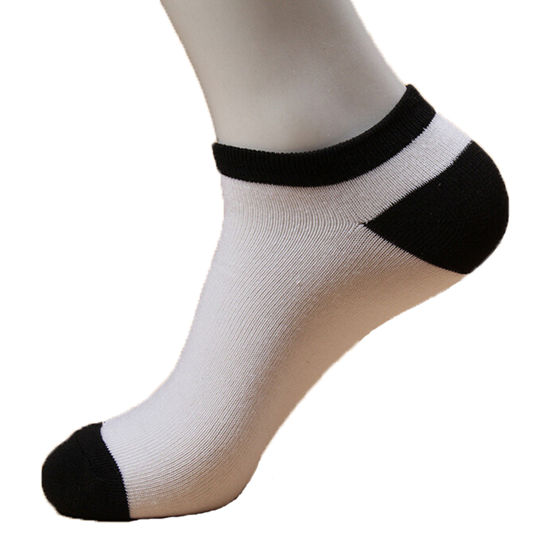 10pair Classic Socks For Men Ankle Socks Warm 3d printed Stripe And Solid Pattern Mens Socks Black Gray White Calcetines
