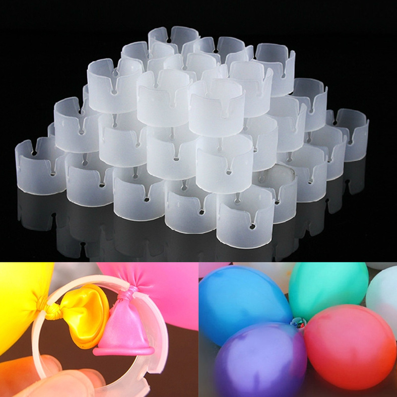 50pcs Balloons Arch Buckle Plastic Clip Bracket Arch Balloon Connector Clips Ring Buckle For Arches Birthday Wedding Party Ballons & Accessories    - AliExpress