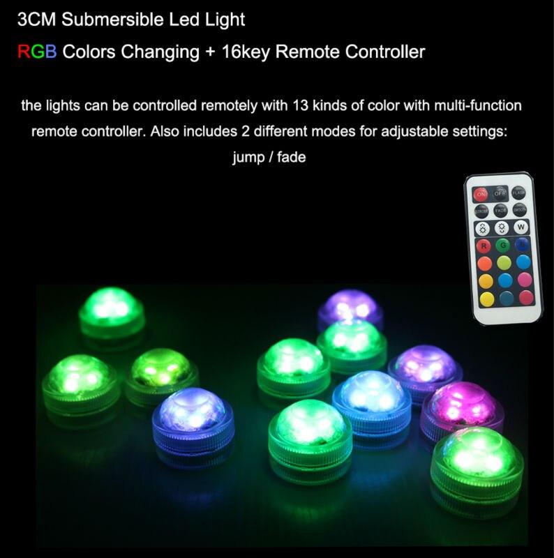 10PCS Super lyse 3smd te lys nedsenkbar ledet lys vanntett Bryllup / - Ferie belysning - Bilde 5